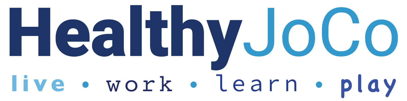 HealthJoCo logo noting live work learn play tagline